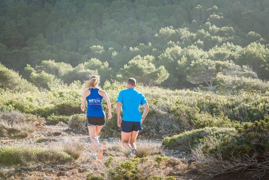 Trail Running amongst the greenery in Ibiza