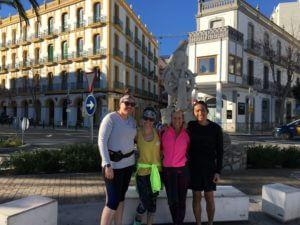 Running Ibiza Running Group before our free weekly run