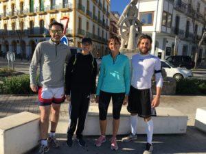 Running Ibiza Running Group at the Sailor Statue in Ibiza Town