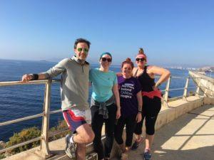 Running Group at Botafoch Lighthouse